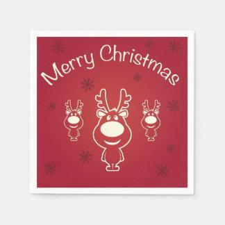 Frohe Weihnacht-Rene Papierservietten