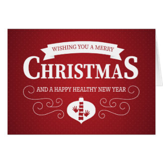 Frohe Weihnacht-Rot punktiertes Karte