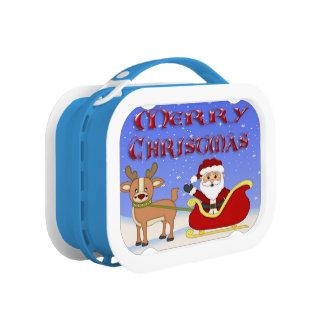 Frohe Weihnacht-Sankt-Brotdose Brotdose