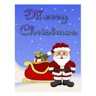 Frohe Weihnacht-Sankt-Postkarte Postkarte
