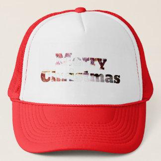 Frohe Weihnacht-Speck-Druck Truckerkappe
