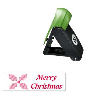 Frohe Weihnacht-Stechpalmen-kundenspezifische Taschenstempel