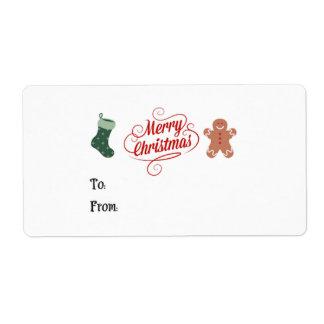 Frohe Weihnacht-Strumpf-Lebkuchen-Mann
