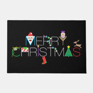 Frohe Weihnacht-Typografie Türmatte