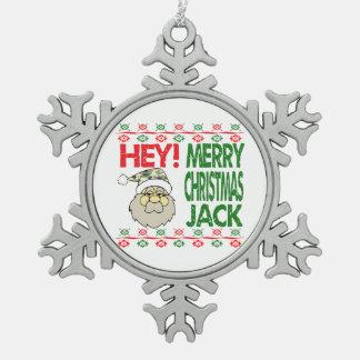 Frohe Weihnacht-Verzierung Redneck-Tarnungs-Sankt Schneeflocken Zinn-Ornament