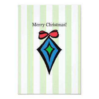 Frohe Weihnacht-Verzierungs-12x18 Einladung