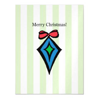 Frohe Weihnacht-Verzierungs-metallische Postkarte