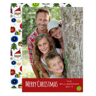 Frohe Weihnacht-wunderliche Verzierungen modern Karte