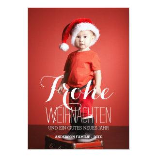 Frohe Weihnachten   deutsche Feiertags-Foto-Karte 12,7 X 17,8 Cm Einladungskarte