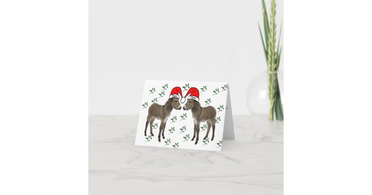 Frohe Weihnachten, Esel-Weihnachten Weihnachtskarte | Zazzle.at