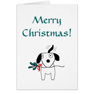 Frohe Weihnachten! - Feiertags-Gruß-Karte Mitteilungskarte