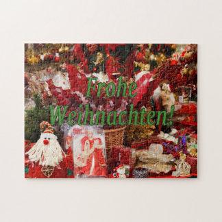 Frohe Weihnachten! Frohe Weihnachten im deutschen Puzzle