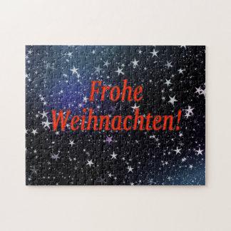 Frohe Weihnachten! Frohe Weihnachten in deutschem Puzzle