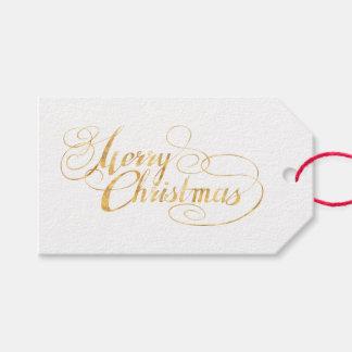 Frohe Weihnachten (GOLD) Geschenkanhänger