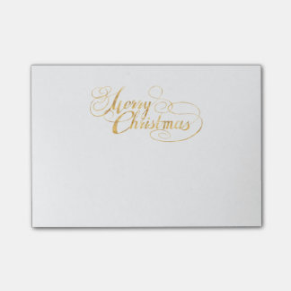 Frohe Weihnachten (GOLD) Post-it Klebezettel