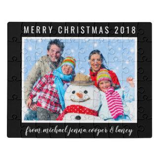 Frohe Weihnachten | Ihr Foto | Ihre Mitteilung Puzzle
