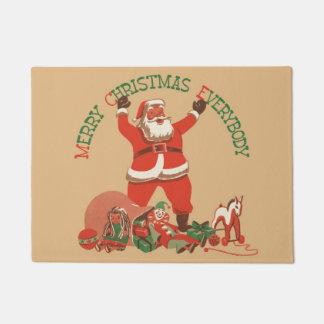 Frohe Weihnachten jeder! Vintager Weihnachtsmann Türmatte