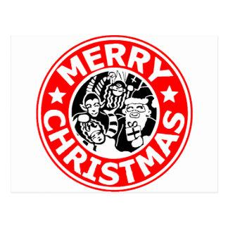 Frohe Weihnachten Krampus Logo Postkarte