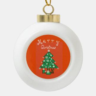 Frohe Weihnachten kundengerecht Keramik Kugel-Ornament