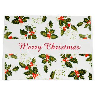 Frohe Weihnachten Larg Geschenk-Tasche Große Geschenktüte