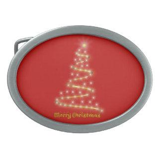 Frohe Weihnachten Ovale Gürtelschnallen