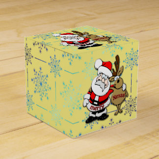 Frohe Weihnachten Sankt u. Rudy - bevorzugen Sie Geschenkschachtel