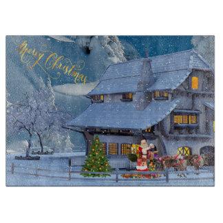 Frohe Weihnachten Schneidebrett