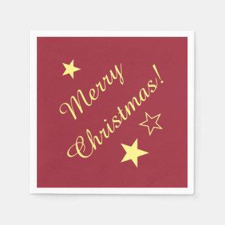 Frohe Weihnachten spielen kundengerechter Papierservietten