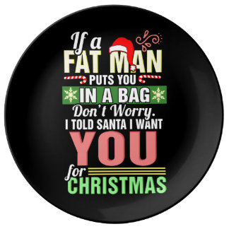 Frohe Weihnachten und Weihnachtsmann Teller