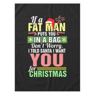 Frohe Weihnachten und Weihnachtsmann Tischdecke
