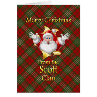 Frohe Weihnachten vom Scott-Clan Karte