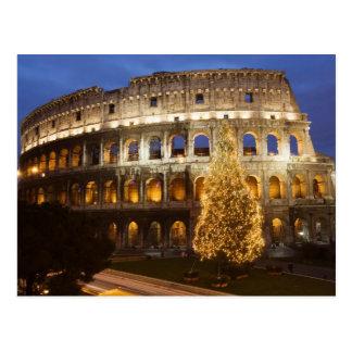 Frohe Weihnachten von Rom-Postkarte Postkarte