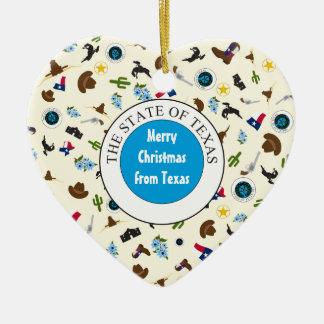 Frohe Weihnachten von Texas Keramik Ornament