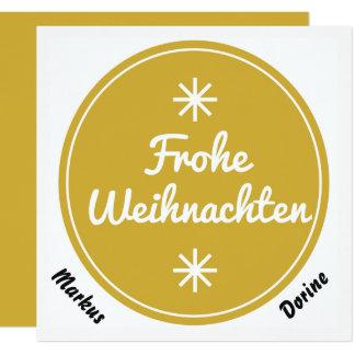 Frohe Weihnachten Weihnachtskarte in sandgold Karte