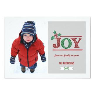 Frohe Weihnachtsgruß-Foto-Karte 12,7 X 17,8 Cm Einladungskarte