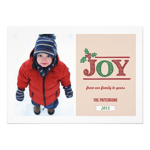 Frohe Weihnachtsgruß-Foto-Karte Personalisierte Ankündigungen