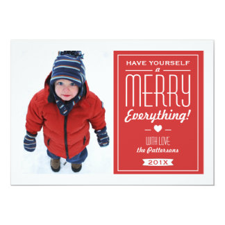 Fröhlich alles Weihnachtsgruß-Foto-Karte 12,7 X 17,8 Cm Einladungskarte