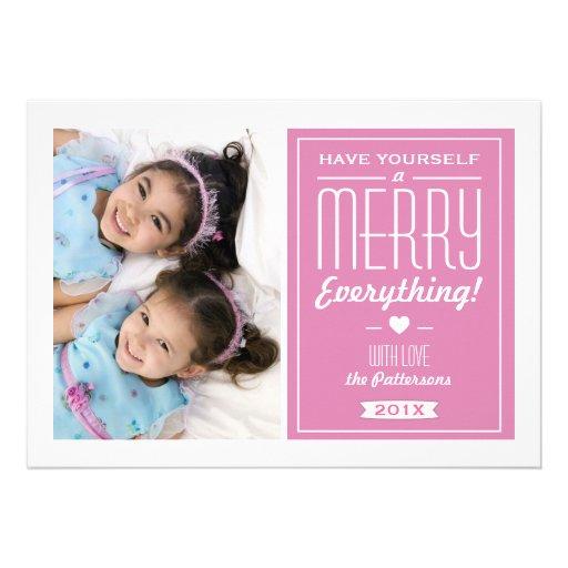 Fröhlich alles Weihnachtsgruß-Foto-Karte Individuelle Einladungen