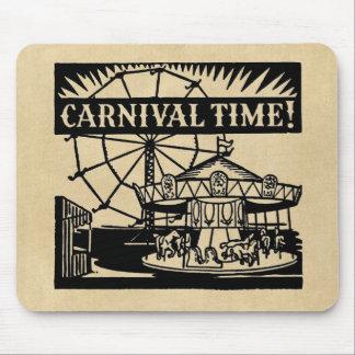 Fröhlich-gehen-runde Karnevals-Zeit Mousepads