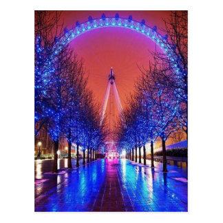 Fröhlich-Gehen-Runde Postkarte Londons