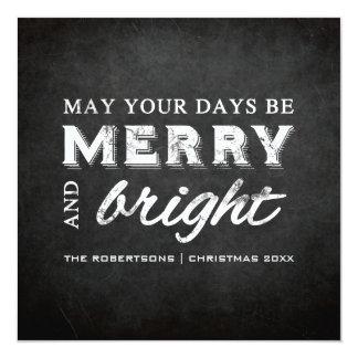 Fröhlich u. hell - Weihnachtsrustikale Tafel Quadratische 13,3 Cm Einladungskarte