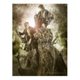 Fröhlich und Peregrin auf Treebeard Postkarte