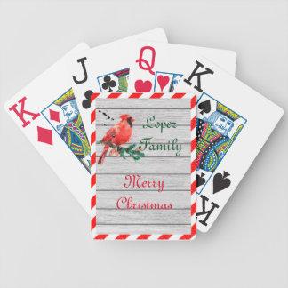 Fröhliche Land-Kardinals-Plattform Spielkarten