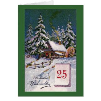 """""""Frohliche Weihnachten"""" Vintager Deutscher Karte"""
