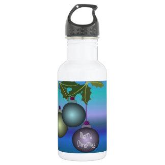 Fröhliche Weihnachtsbaum-Verzierungen Edelstahlflasche