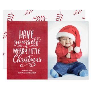 Fröhlicher kleiner Weihnachtsrot-Schmutz 12,7 X 17,8 Cm Einladungskarte