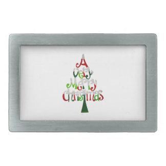 Fröhlicher Weihnachtsbaum Rechteckige Gürtelschnallen