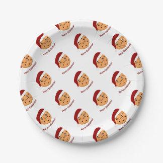 Fröhliches Cookiemas Pappteller 17,8 Cm