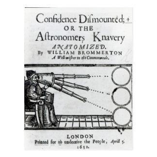 Frontispiz-Vertrauen abgenommen; Astronom Postkarte