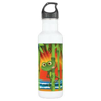 Frosch auf Bambus Trinkflasche